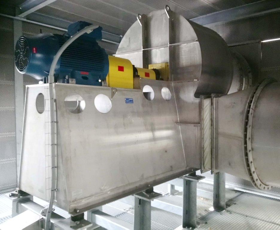 RVS centrifugaalventilator met flexibele koppeling, Almeco