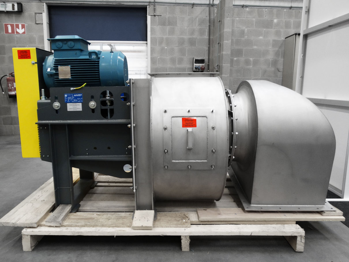 Duplex centrifugal fan for high temperatures, Almeco