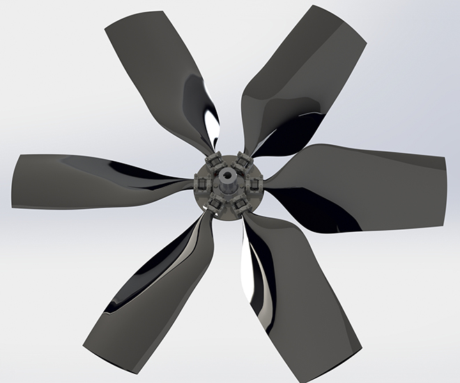 Replacement fan cooling tower