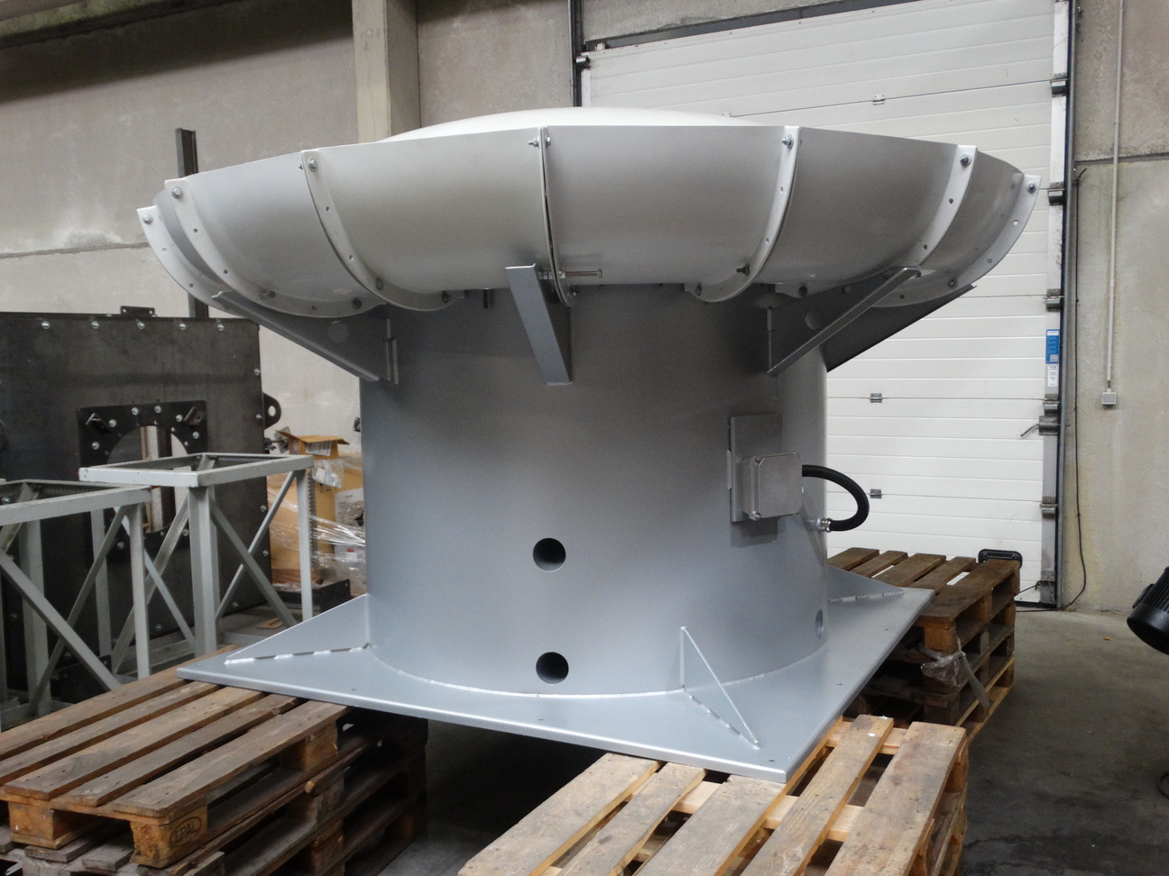 Acid-proof, low-noise axial extractor, industrial fans, Almeco