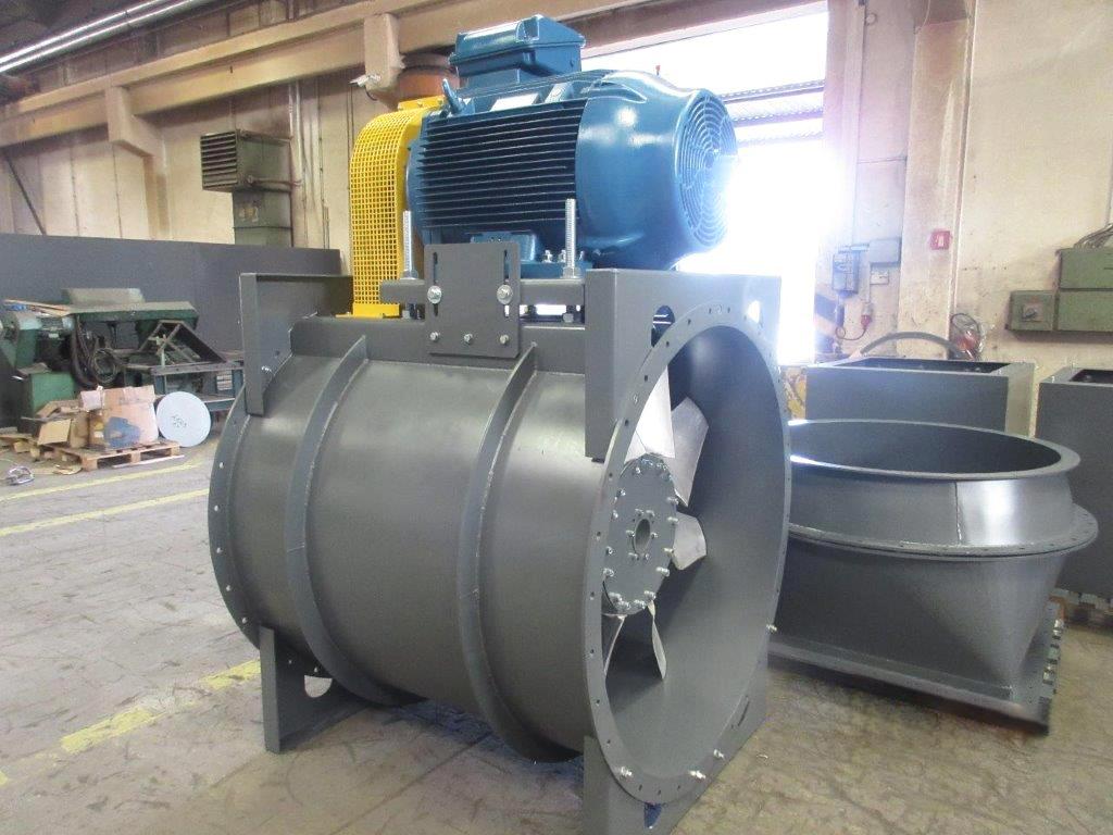 Wind tunnel for school training, industrial fans, Almeco