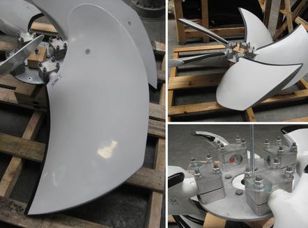 WENTECH impeller with polyester blades, Almeco