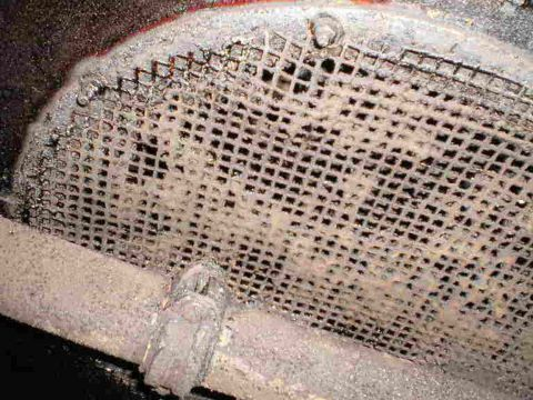 contaminated suction grille