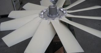 Impeller with plastic blades, Almeco