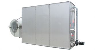 Closed counterflow cooling tower, CFSC, Almeco